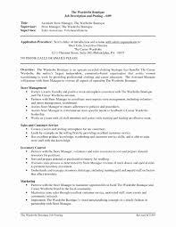 Retail Management Resume Examples And Samples Inspirational Jd