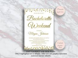 Editable Bachelorette Party Invitation Template Bachelorette Weekend Invitations Gold Bachelorette Invite Hens Party Digital Invite S4bh