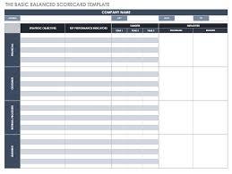 Scorecard Template Balanced Scorecard Examples And Templates Smartsheet