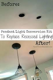recessed light conversions low ceiling lights loft conversion spotlights convert square to pendant track r