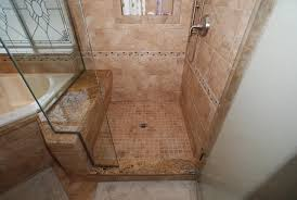 corner shower bench within tub seat master bathroom reconfiguration yorba linda design 9