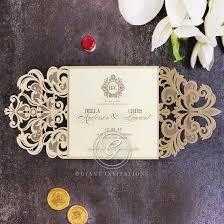 Wedding Invitations Golden Baroque Gates