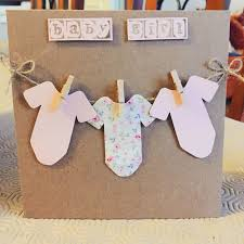 Babygirl Cards Hm Buttoncrafts Baby Girl Handmade Card Any Card Depop