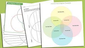 4 Circle Venn Diagram Template Venn Diagram Template 6 Printable Venn Diagrams