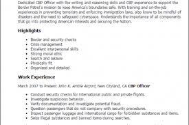 border patrol agent resume