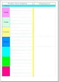 printable monthly menu planner meal prep planner template free printable monthly menu planner