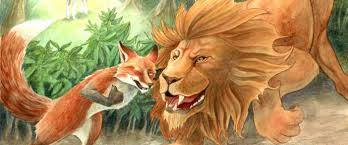 Image result for The Lion and a Clever Fox
