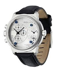 police mens watch viper black strap and silver dial amazon police mens watch viper black strap and silver dial