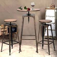bistro table set bar pub dining round high chairs rustic 3 saigon weave traditions piece adorable rustic bistro table and chairs
