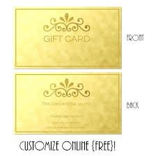 Custom Gift Certificate Template Free Download Templates To