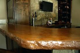 bar countertops bar acid stained concrete broken rock bar edge outdoor bar for outdoor bar