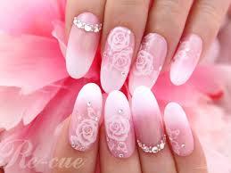 花嫁のブライダルネイルにも人気白薔薇のネイルシール松本壽美代