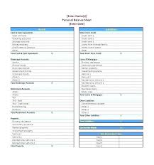 Simple Personal Balance Sheet Example Account Sheet Template Free Simple Balance Excel 1 Checking