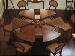 best round tables with self storing leaves for the dining room small round kitchen table with