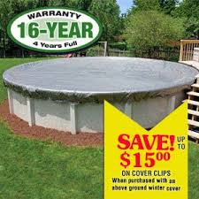 12 Ft Round Pro Strength Above Ground Pool Cover In the Swim