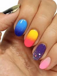 The 25 best Multicolored nails ideas on Pinterest