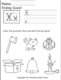 Have your child use a bingo dauber or marker to fill in the correct answer and then color the pictures. Free Ending Sound Worksheet X Free4classrooms