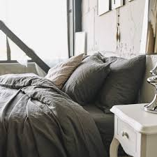 our charcoal gray bedding collection consists of the right amount of brown in it to add warmth and perfect about of darkness to be a perfect base for