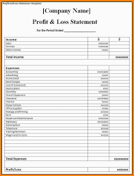Profit And Loss Statement Excel Template Excels Download