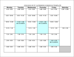 Invoice Schedule Template 12 Class Schedule Template Simple Invoice