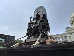 Satanic Temple unveils <b>Baphomet</b> statue at Arkansas Capitol