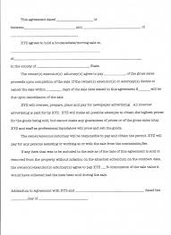 Estate Sale Agreement Template Selling Agreement Template Contract ...