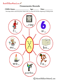 Worksheet downloads come in a variety of formats including pdf. Consonants Sounds Aussie Childcare Network