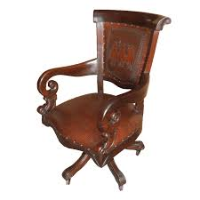 Brown leather office chair Burgundy Leather Western Office Chair With Posse Tooled Leather Zoom Lone Star Western Decor Western Office Chair With Posse Tooled Leather