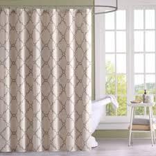 Beige shower curtains Classy Bed Bath Beyond Madison Park Saratoga Printed Shower Curtain Bed Bath Beyond
