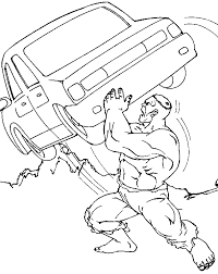 Incredible Hulk Coloring Pages To Print Color Bros