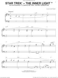 Inner Light Star Trek Sheet Music Chattaway Star Trek R The Inner Light Sheet Music For Piano Solo