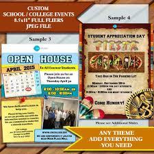 Event Flier Halloween School Or College Fliers 8 5x11 Multiple Samples