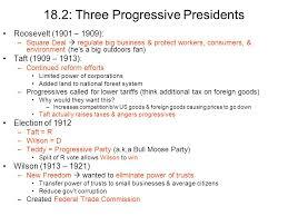 Progressive Era Presidents Chart Www Bedowntowndaytona Com