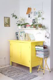 yellow furniture. Update Any Piece Of Furniture With A Few Coats Yellow Eggshell. This Cupboard Does All The Talking Here!