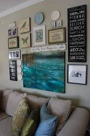 ... Wall Art Groupings Nice Mix Of Framed Pieces And Objects Made Of Wooden  Elegant Simple Wear ...