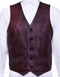 details about mens soft brown leather waistcoat classic casual formal traditional gilet vest