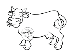 Kids Coloring Pages Pdf Childrens Christian Free Christmas Cow For