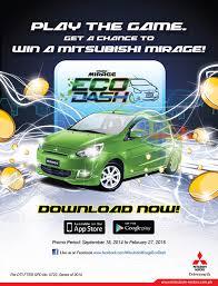 new car release 2014 philippinesMitsubishi Motors Philippines launches Mirage Eco Dash game app