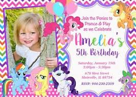 Birthday Invitation Party Details About My Little Pony Mlp Birthday Invitation Party Invite Pony Invitation