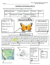 Nonfiction Text Features Anchor Chart Printable Text Features Worksheets 2nd Grade Odmartlifestyle Com