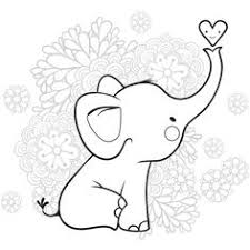 Baby Elephant Coloring Pages Coloring Page Libraries