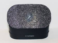 mac glittery hard case makeup holder empty box new