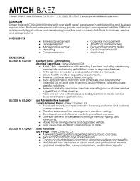 Best Assistant Clinic Administrator Resume Example Livecareer