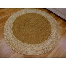 braided jute target brown round circle floor rug