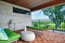 second floor outside balcony deck contemporary with horizontal window gray  bathroom mirrors