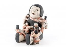 Ada Cordero Suina (American, B. 1930) Southern Pueblo Storyteller Pottery  Figure #83142 | Black Rock Galleries