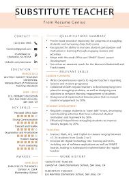 Teacher Objective Resume Elementary School Teacher Resume Objective Job Description