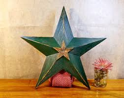 21 inch wood star etsy
