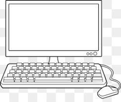 computer clipart black and white. Fine And PNG And Computer Clipart Black White E