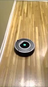 roomba on hardwood floors